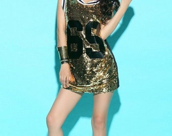 2f30f50e20bf Sequin jersey dress