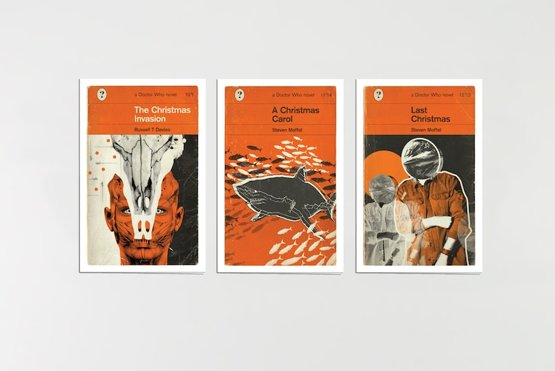 Doctor Who  Penguin-style book covers  Christmas cards 2  image 0