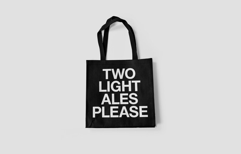 The Smiths tote bag  Two Light Ales Please image 1