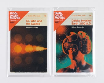 Doctor Who | Penguin-style book covers | 1960s Dalek Movies