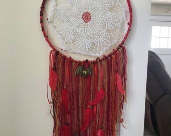 Dream Catcher, Large Red, Dragon