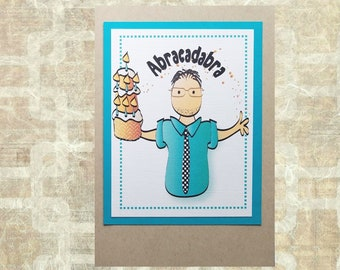 Funny Birthday Card for Him - Snarky Brother Husband Friend Birthday Card - Sassy Personalized Male Bday Card and Envelope Set