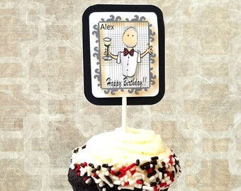 Personalized Cupcake Topper For Men