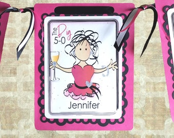 50th Birthday Party Decoration Idea for Her - Personalized 50 Birthday Drink Banner for Women - Fabulous Female Birthday Decor Sign Idea
