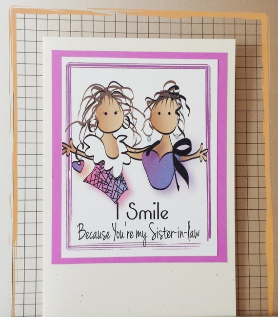Sister In Law Card Funny Birthday Card For Sister In Law Etsy