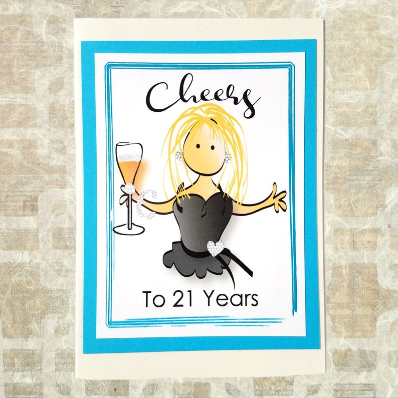 21st Birthday Card Cheers To Her 21 Funny