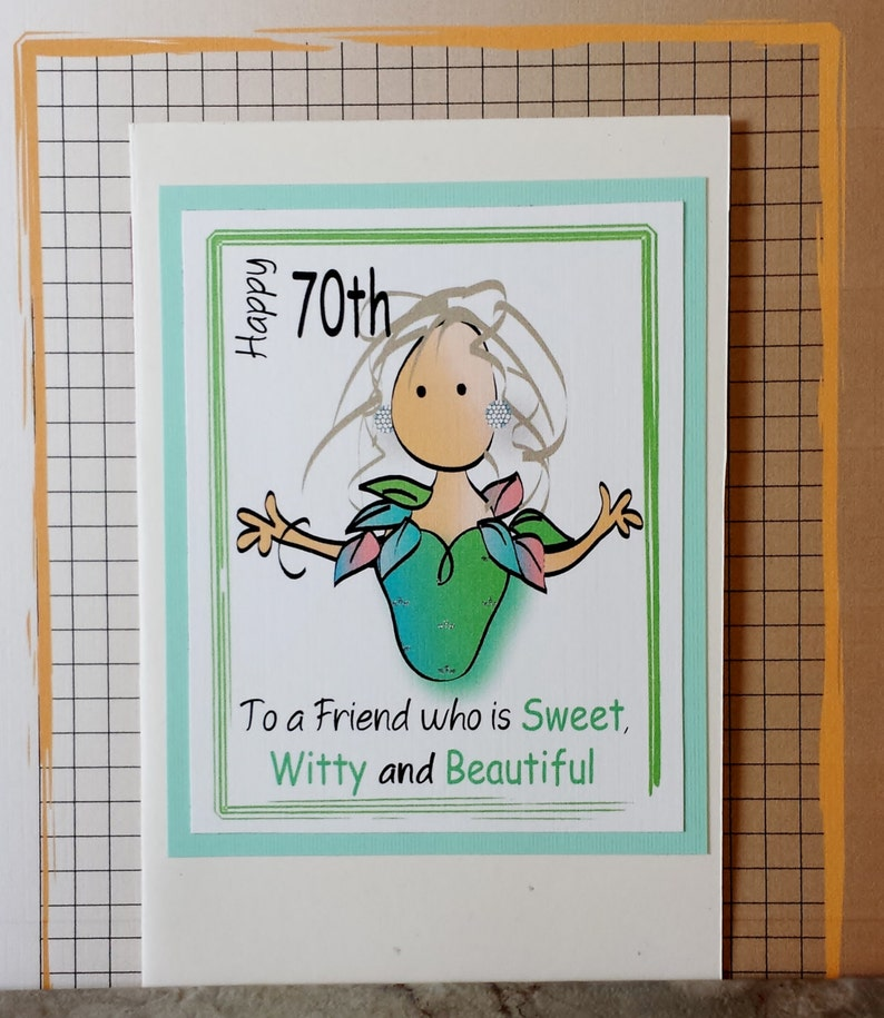 70th Birthday Card For Girlfriend Funny Happy