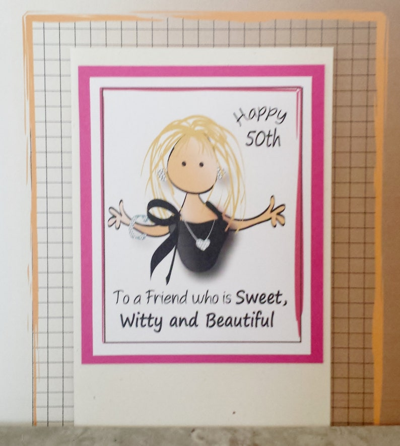 50th Birthday Card For Her Snarky And Sassy Bday Friend