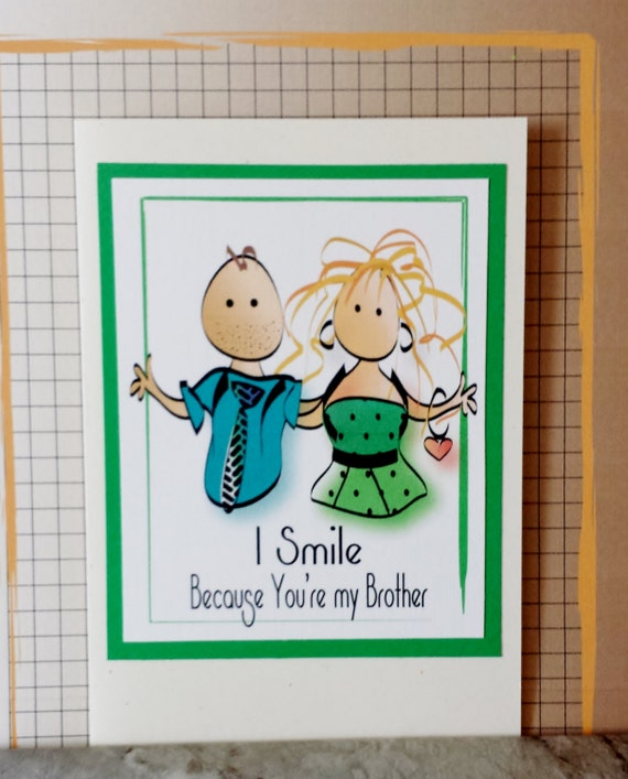 Brother Birthday Card Funny Birthday Card For Older Brother Etsy