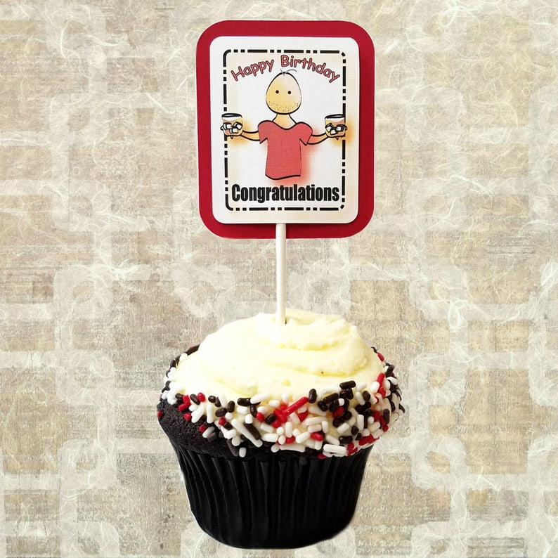 60th Birthday Party Decoration For Men Personalized Cupcake
