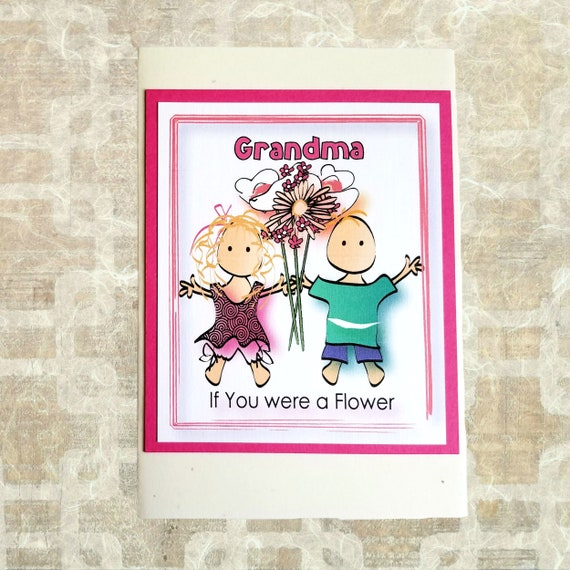 Grandma Birthday Card Cute Birthday Card For Grandmother Etsy