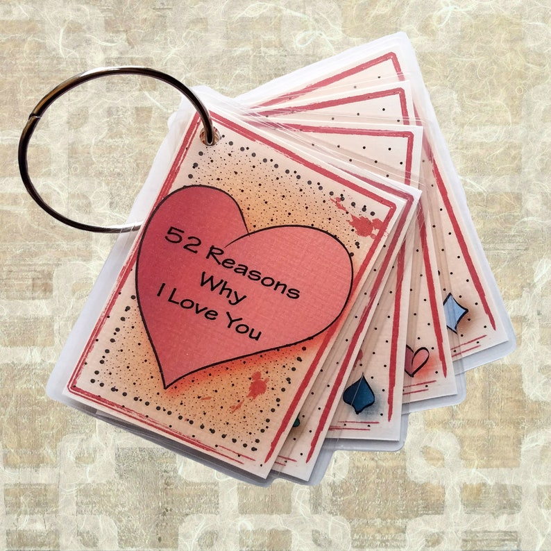 Reasons I Love You Romantic Gift Idea for Her - Personalized Romantic  Anniversary Gift - 52 Reasons Love Card Deck for Boyfriend Present