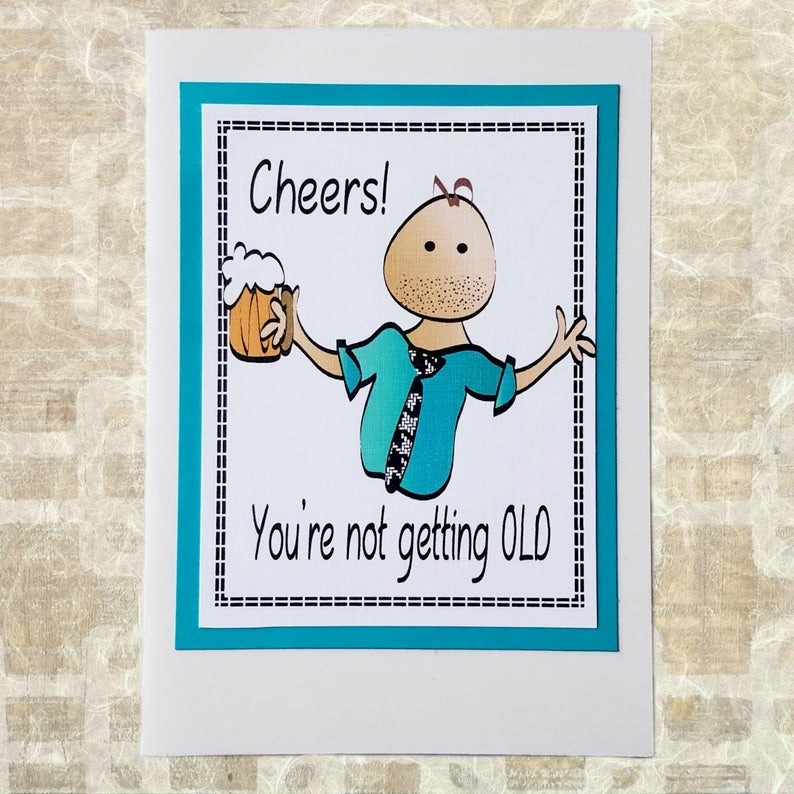 Snarky Happy Birthday Card for Him - Funny Birthday Card for Male - Sassy  Drinking Bday Card for Men - Funny Greeting Card and Envelope Set