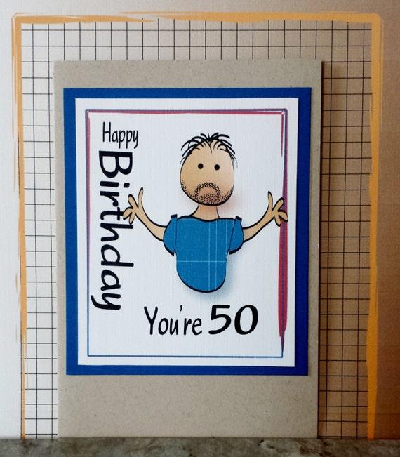 50th Birthday Card Brother Birthday Card Husband Birthday