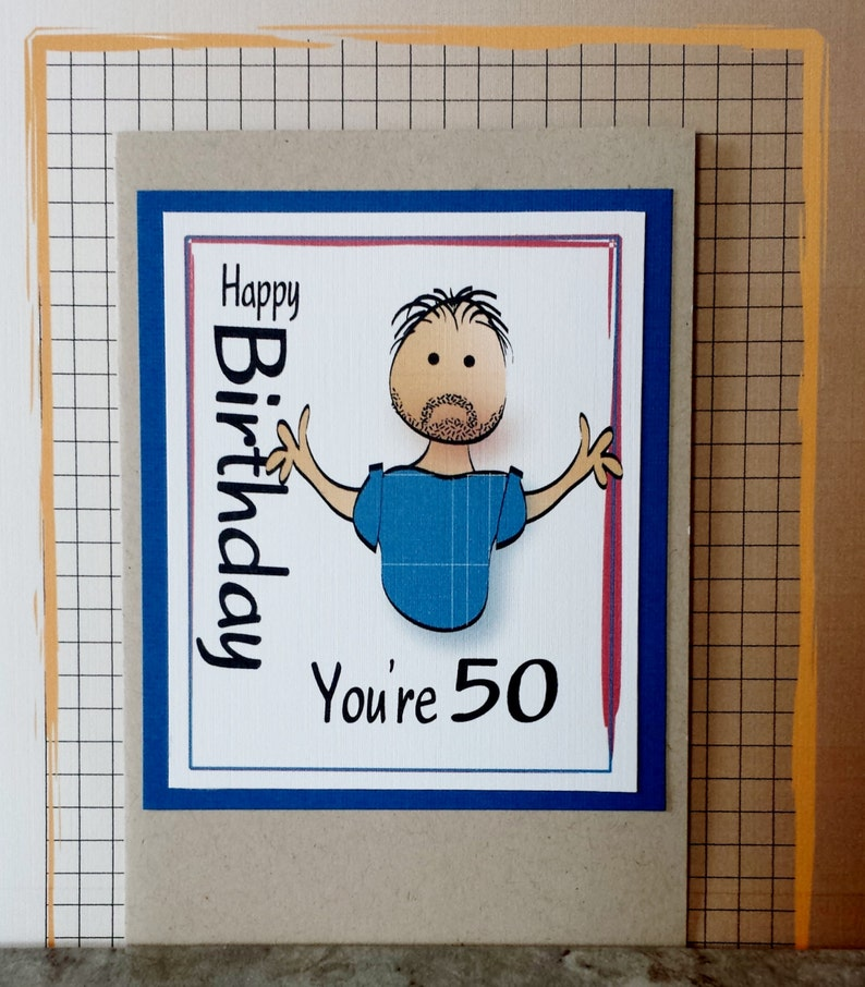 Funny 50th Birthday Card For Male Snarky Brother Or Husband