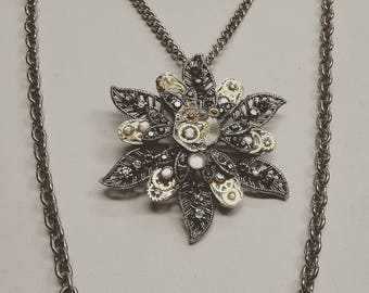 Steampunk Flower Necklace