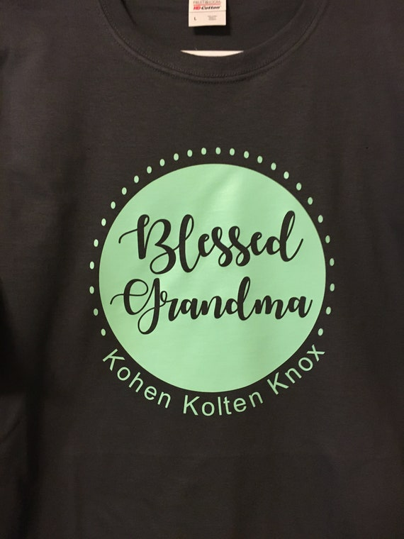 5c4e59c4 Blessed Grandma Tshirt // Personalized Grandmother Shirt // | Etsy