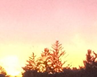 "Pink sunset, Rye, NY"""