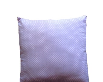 Lavendar teeny polka dot pillow 18x18
