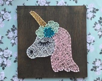 Unicorn String Art, Unicorn Decor, Unicorn Nursery Decor, Unicorn Art