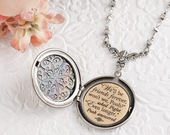 Friendship Necklace We'll be friends forever won't we Pooh - even longer Winnie the Pooh Quote Friend Gifts Pooh and Piglet Best Friend Gift