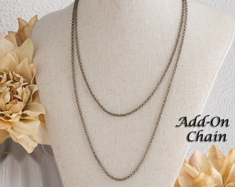 Layered Necklace Rolo Chain Necklace Layering Necklace Plain Chain Necklace Simple Chain Necklace Silver Chain Bronze Chain Layering Jewelry
