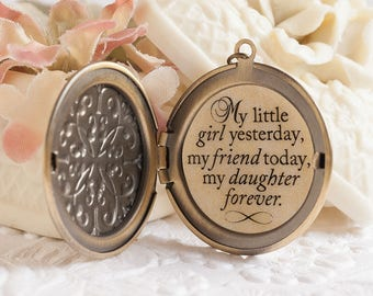 Daughter Gift My little girl yesterday my friend today my daughter forever Daughter Necklace Daughter Jewelry Daughter Quote Mother Daughter