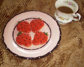 Strawberry sugar cookies Gluten Free decorated
