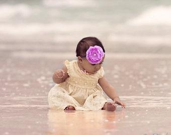 Lilac purple Headband, Birthday headband,  Valentine headband, baby headbands, purple headband, ranunculus,  hair bow