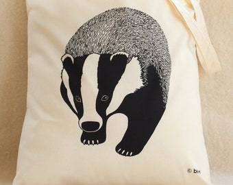 Badger Cotton Tote Bag