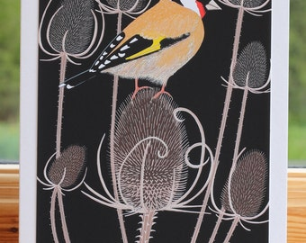 Goldfinch - Greeting card hand titled and signed