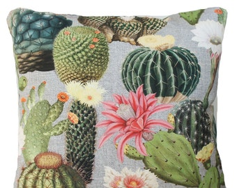 Cactus Printed Cushion Cover Green Throw Pillow Case Variation of Sizes
