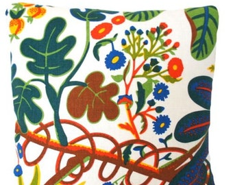 Josef Frank Fabric Cushion Cover Pounds Aralia Printed Linen SALE now 29.99 Pounds was 39.99