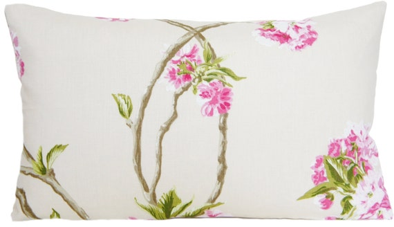 Orchard Blossom Cushion Cover Osborne /& Little Linen Printed Fabric Pink