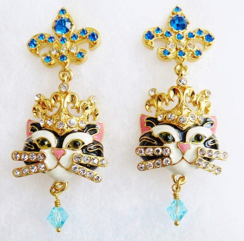 Never Worn Lunch At The Ritz Princess Kitty Post Earrings