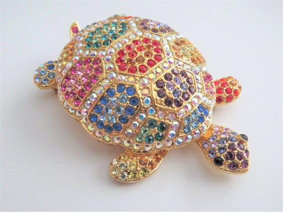 Joan Rivers Classic Collection Colorful Turtle Bro