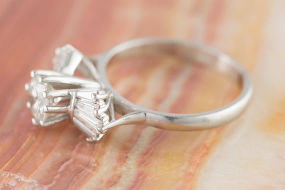 Brilliant Cut Diamond Bow Tie Ring With Platinum Band Etsy