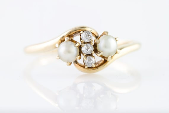 Old European Cut Diamond And White Gold Fashion Ring Etsy