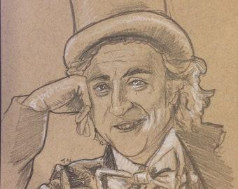 Willy Wonka Sketch Card