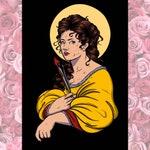 A4 Portrait of Artemisia Gentileschi / Art Illustration Print
