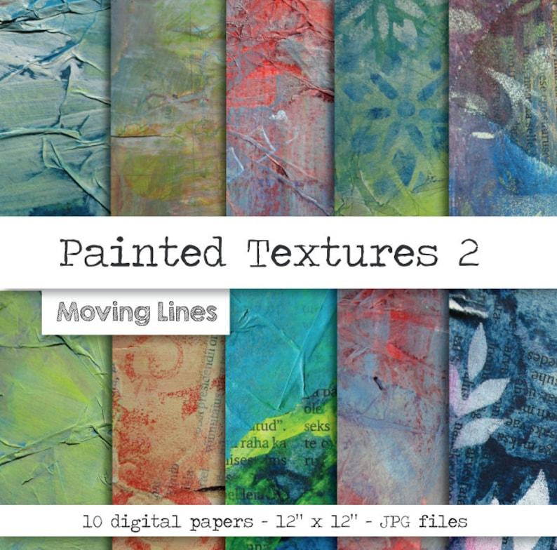 Fine Art Digital Paper Grunge Scrapbooking Hand Painted Etsy