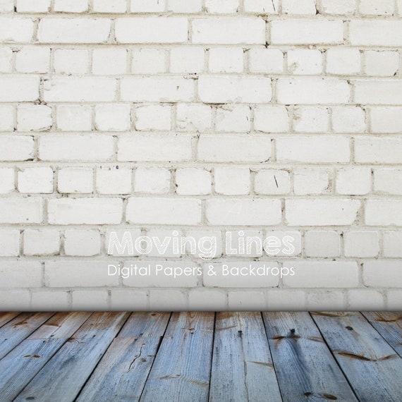 Digital Photo Props White Brick Wall Photography Backdrop Etsy
