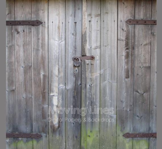 Barn Door Backdrop Baby Photography Props Wood Background Digital Printable Wallpaper Old Rustic Door