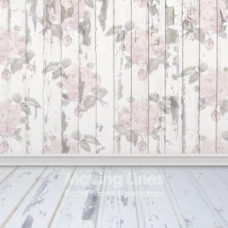 Fiore Baby Fotografia Sullo Sfondo Bianco Legno Parete Rose Etsy