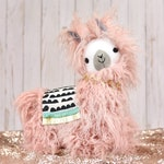 Curly Pink Stuffed Animal Llamas/Alpacas
