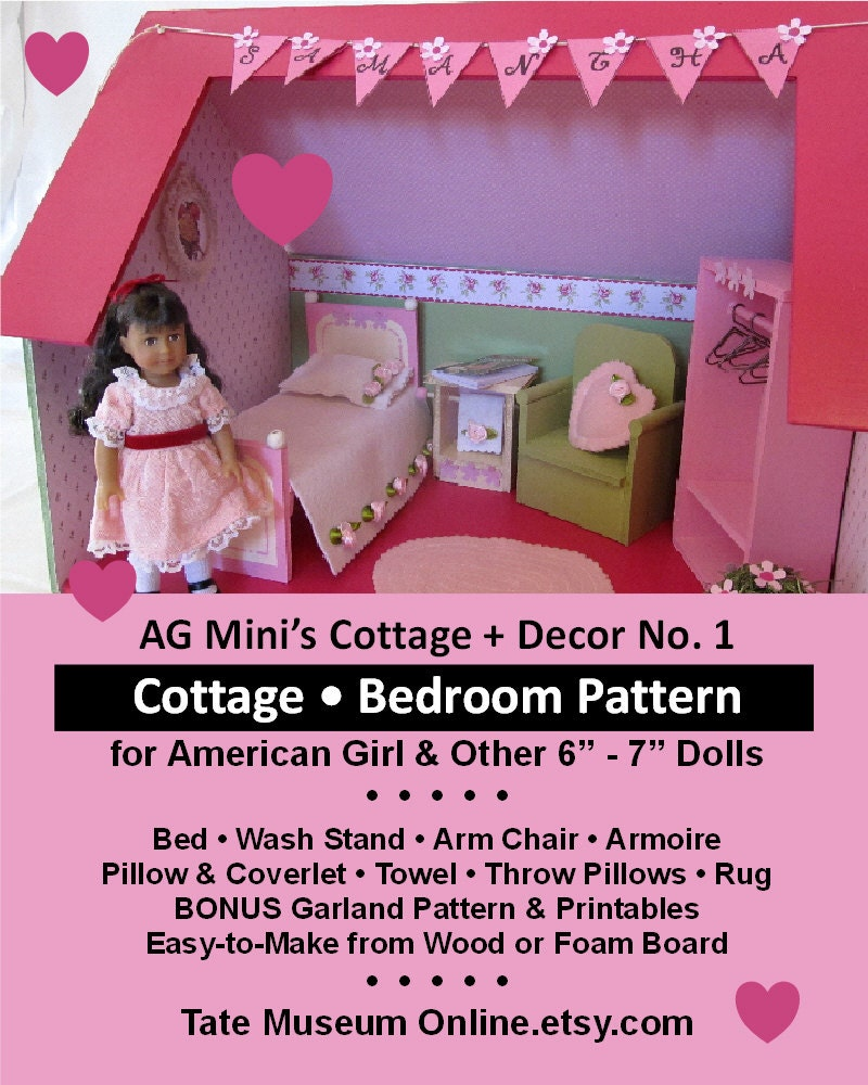 Mini Doll House Pattern _ Cottage Room FURNITURE & Décor No.