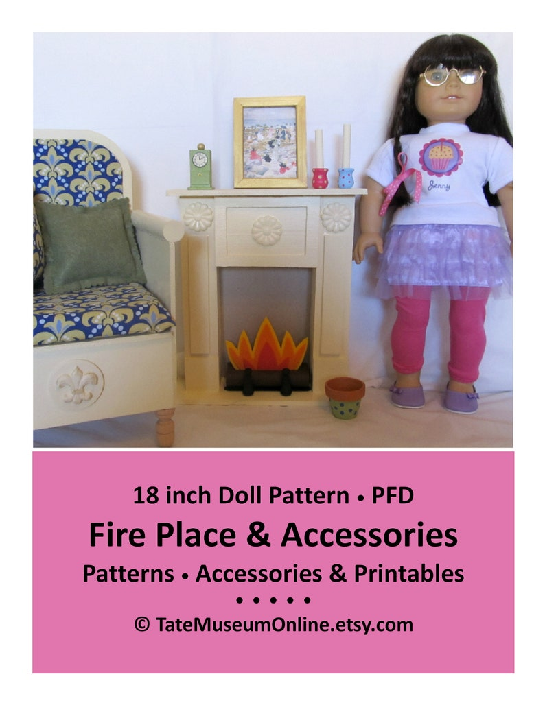 Astonishing 18 Doll Furniture Pattern Fire Place Accessories Easy To Make Bonus Guide Digital Download Pdf Pattern Download Free Architecture Designs Ferenbritishbridgeorg