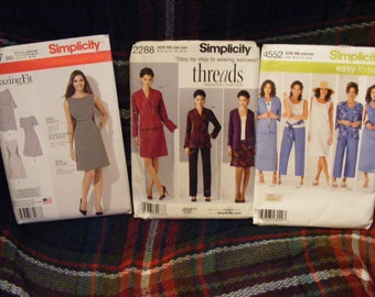 4cd6e78d973ea Lot of 3 Women s Plus Size Sewing Patterns Size 20w 22w 24w 26w 28w  Simplicity 1277 2288 4552