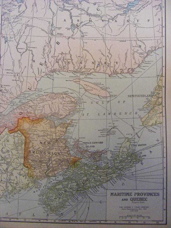 articles similaires 1923 map of new brunswick nova. Black Bedroom Furniture Sets. Home Design Ideas