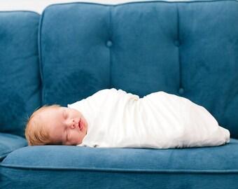 White Swaddle Blanket